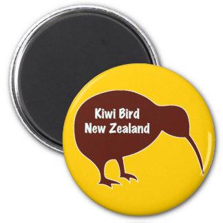 Pájaro del kiwi - Nueva Zelanda Imán Redondo 5 Cm