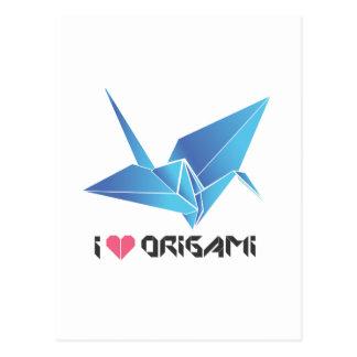 pájaro del origami postal