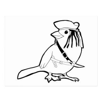 Pájaro del pirata postal