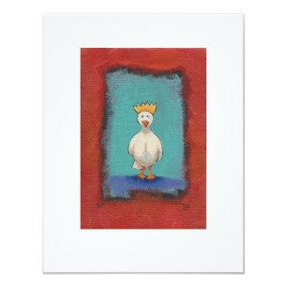 Pájaro del rey - arte original expresivo de la invitación 10,8 x 13,9 cm