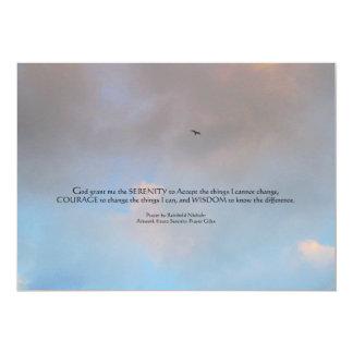 Pájaro del rezo de la serenidad en la invitación