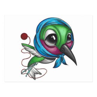 Pájaro del tarareo de la abuela postal