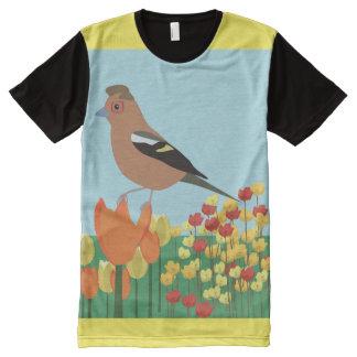 Pájaro del verano camisetas con estampado integral