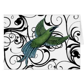 Pájaro del vintage tarjeta