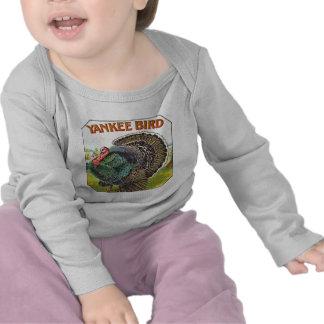 Pájaro del yanqui - etiqueta del cigarro del vinta camiseta