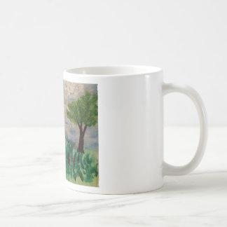 Pájaro en el prado taza de café