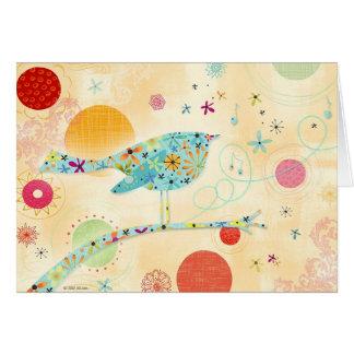 Pájaro feliz tarjeta de felicitación