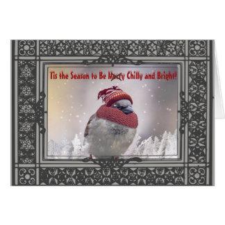 Pájaro gruñón personalizado en tarjeta del día de