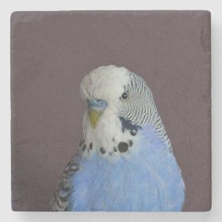 Pájaro macro precioso de Budgie Posavasos De Piedra