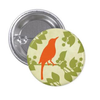 Pájaro moderno chapa redonda 2,5 cm