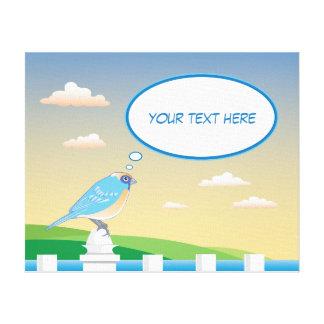 Pájaro personalizado por la lona de los niños del impresión en lienzo