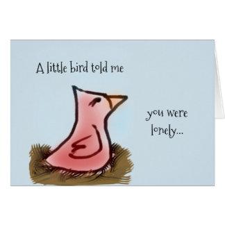 Pájaro rojo de la acuarela en una jerarquía que tarjeta