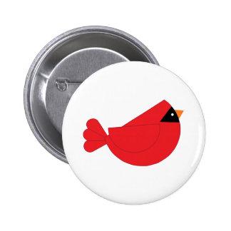 Pájaro rojo del cardenal del navidad pins
