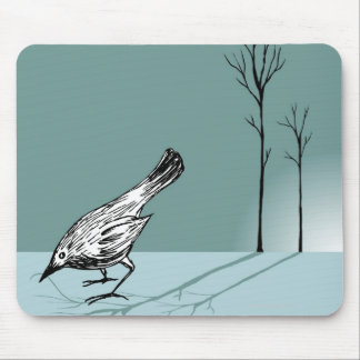 Pájaro temprano alfombrilla de ratón