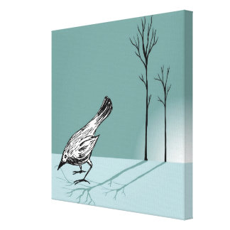 Pájaro temprano impresión en lienzo