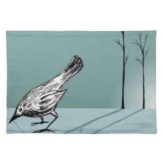 Pájaro temprano mantel