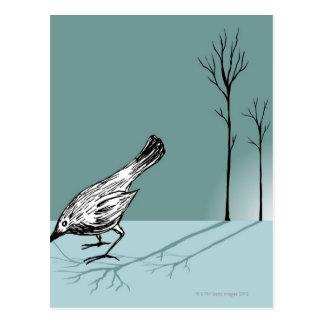 Pájaro temprano postal