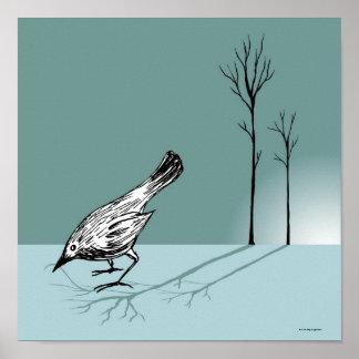 Pájaro temprano póster