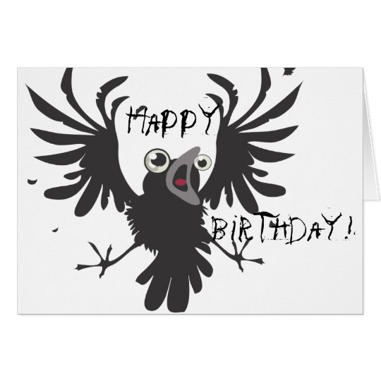 ¡Pájaro viejo loco, feliz cumpleaños! Tarjeta del