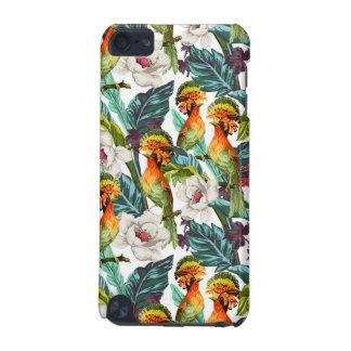 Pájaro y estampado de plores exótico funda para iPod touch 5