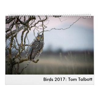 Pájaros 2017: Tom Talbott Calendario