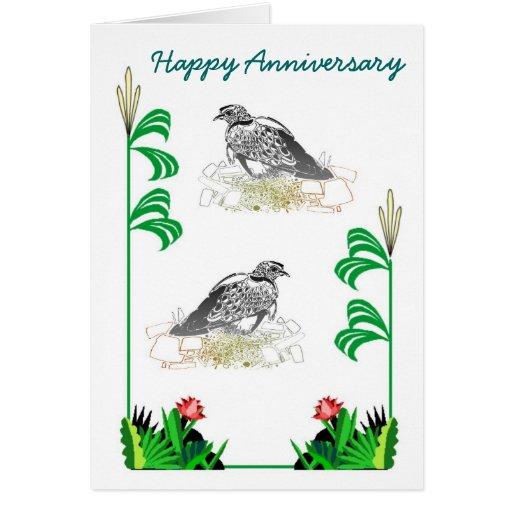Pájaros 25 del aniversario tarjeta