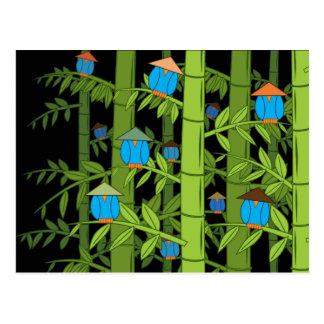 Pájaros azules asiáticos postal