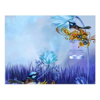 Pájaros azules de la charca de los Bluebirds Tarjeta Postal