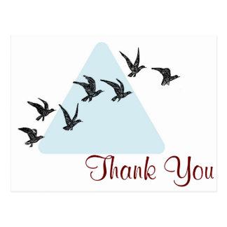 Pájaros azules del triángulo tarjeta postal