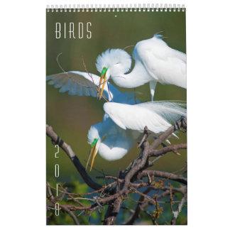 Pájaros - calendario 2018 de pared de la fauna de