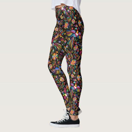 Pájaros coloridos 2 polainas de la moda del leggings