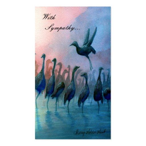 Pájaros de agua, con condolencia… - Modificado par Tarjeta De Visita