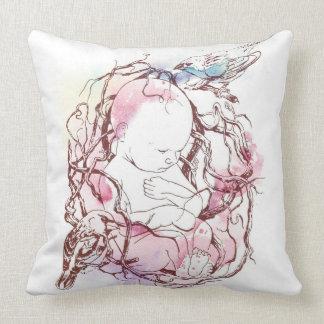 Pájaros de bebé cojín decorativo