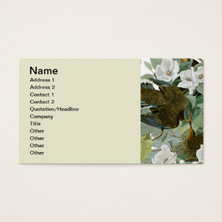 Pájaros de John James Audubon de la paloma de Tarjeta De Negocios