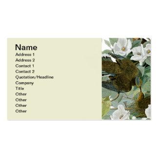 Pájaros de John James Audubon de la paloma de Tarjetas De Visita