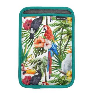 Pájaros de la acuarela y modelo tropicales del funda para iPad mini