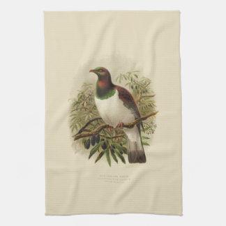 Pájaros de la ciencia NZ del vintage - toalla de