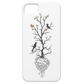 Pájaros de Supergirl en el árbol iPhone 5 Case-Mate Carcasa