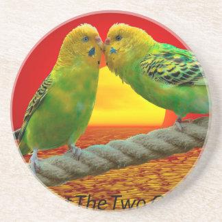 Pájaros del amor apoyavasos