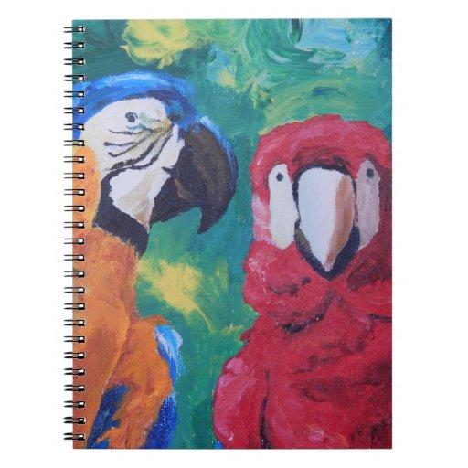 Pájaros del amor del loro libretas