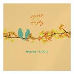 Pájaros del amor del vintage/flores coloridos anuncios personalizados