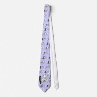 Pájaros del amor del vintage que casan la corbatas personalizadas