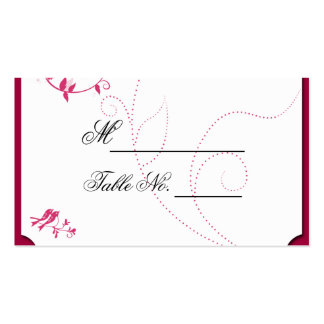 Pájaros del amor en rosa y tarjeta del lugar de Wh Plantilla De Tarjeta De Visita