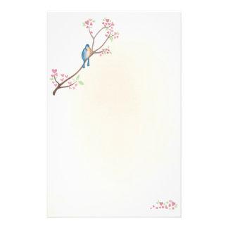 Pájaros del amor inmóviles  papeleria de diseño