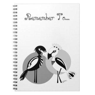 Pájaros del amor libro de apuntes con espiral
