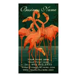 Pájaros del animal salvaje del vintage, flamencos tarjetas de visita