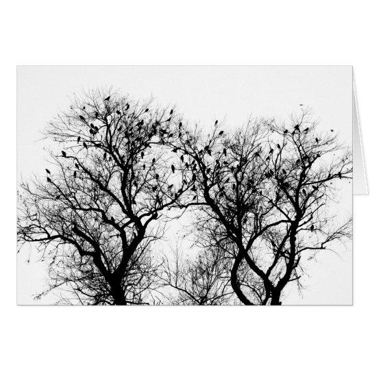 Pájaros del invierno tarjeta de felicitación