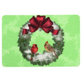 Pájaros del navidad alfombra