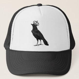 Pájaros del pájaro del negro de la corona del gorra de camionero