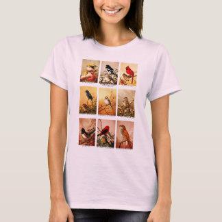 Pájaros del vintage camiseta